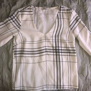 H&M Long Sleeved Black and White Top
